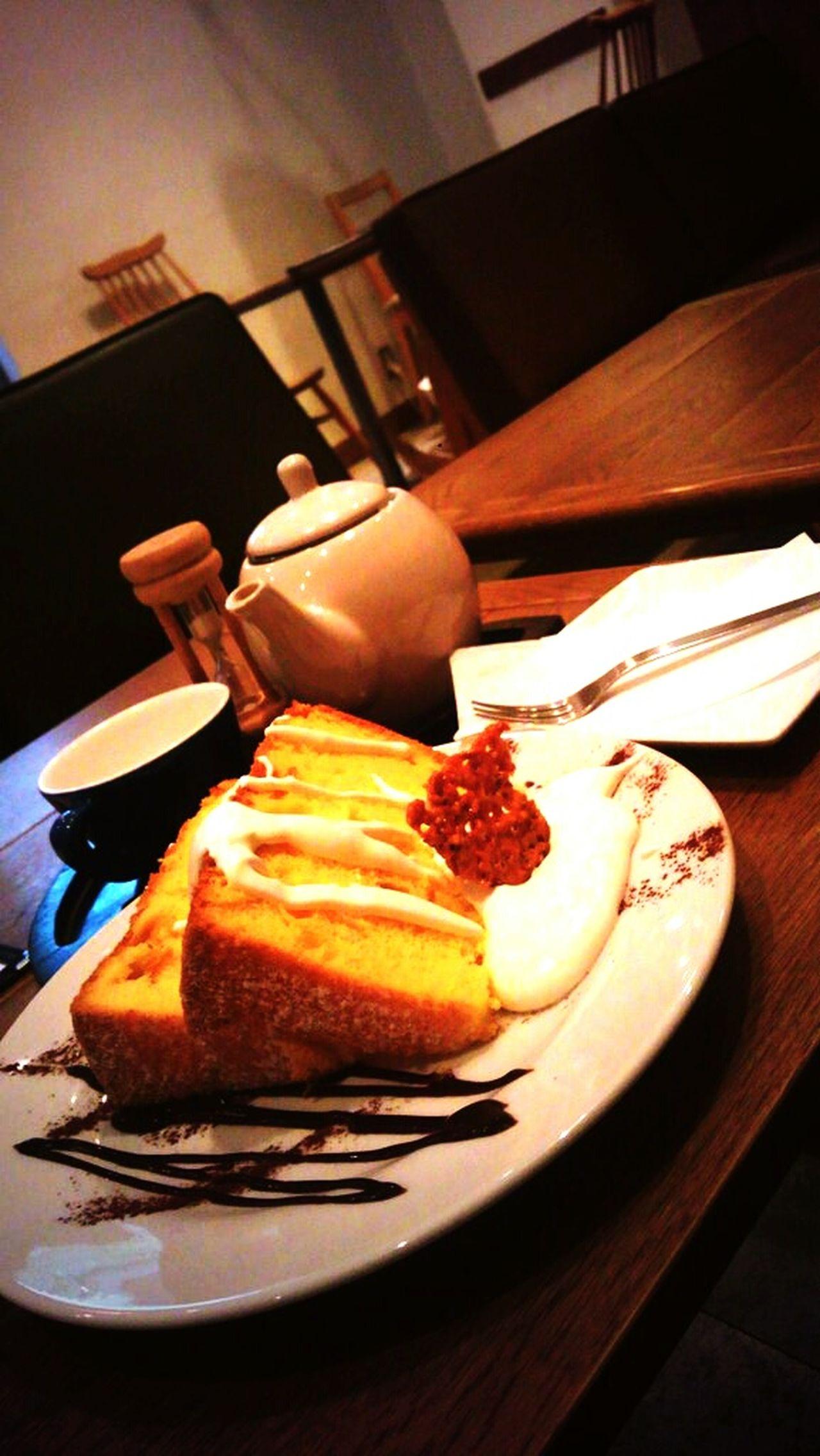 カフェで一息 Food Cake Tee Time