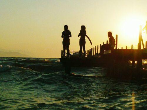 море солнце волны пляж лето море👻🌊 турция Summer ☀ Sean  Kusadasi Turkey Beach закат🌇