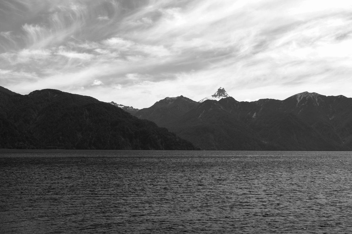 Beauty In Nature Chile Day Lake Landscape Mountain Mountain Range Nature No People Outdoors Puerto Montt Puerto Montt,Vulcano Scenics Sky Tranquil Scene Tranquility Vulcano Water The Week On EyeEm Lost In The Landscape Perspectives On Nature Black And White Friday
