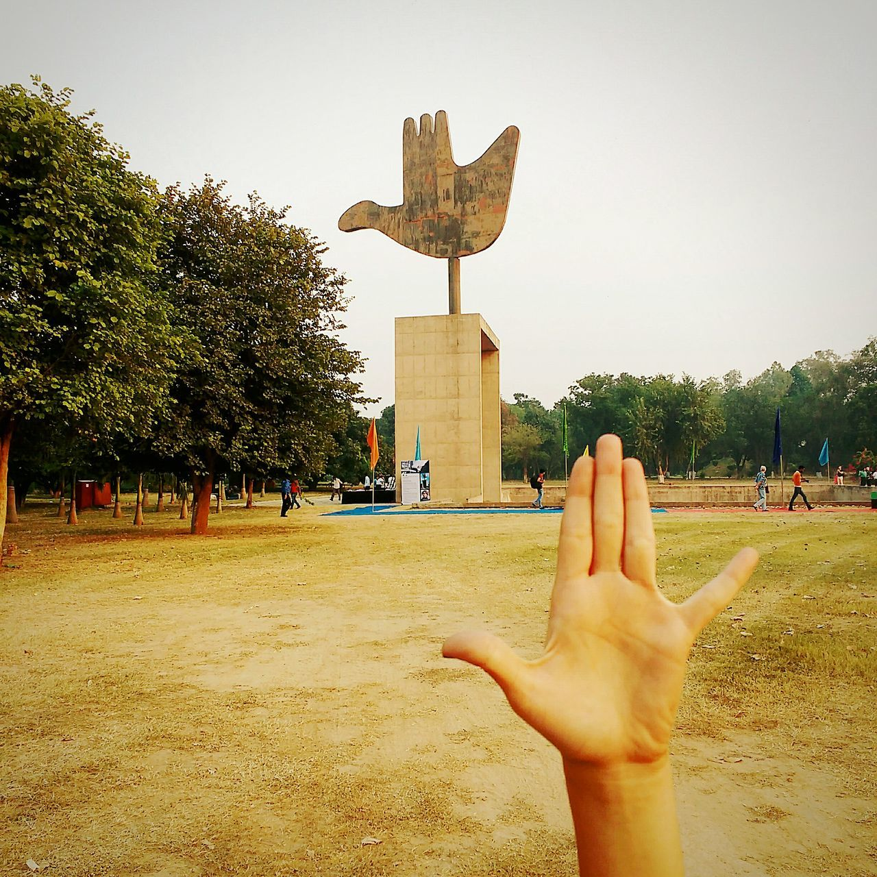 The Open Hand Monument Capitol Complex Chandigarh Chandigarhdiaries Human Body Part Built Structure Architecture Tree Human Hand Sky Outdoors Day EyeEm Gallery Check This Out Architecture Moto G Shot Moto G3 Photography