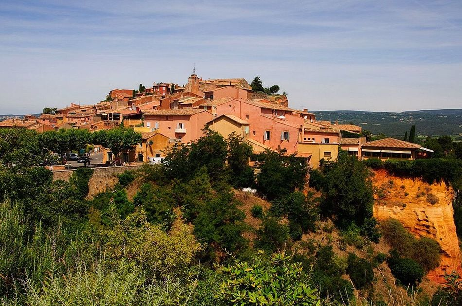 Architecture Architecturelovers Beauty In Nature Building Exterior Built Structure Cityscape Clouds Day Exterior France Landscape Medieval Mountain Nature Nopeople Outdoors Scenics Sky Terracotta Town Travel Destinations Tree Village Village View