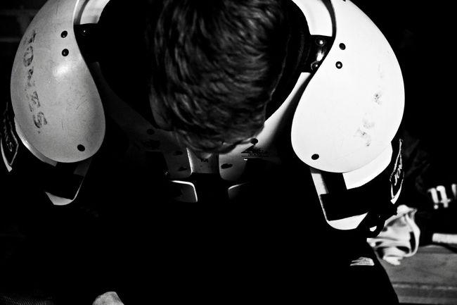Altona Blackandwhite Eishockey Goalie Goalie Mask Ice Icehockey Locker Reportage Shoulderpad Skate