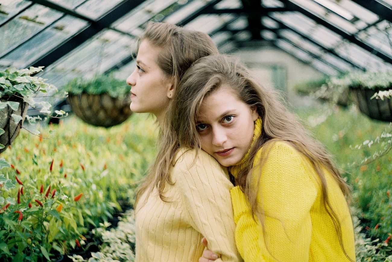 Adult Analog Analogue Analogue Photography Beauty Day EyeEmNewHere Film Film Is Not Dead Film Photography Flowers Long Hair Nature Outdoors People Portrait Sis Togetherness Two People Women Yellow Young Women Fresh on Market 2017 The Portraitist - 2017 EyeEm Awards