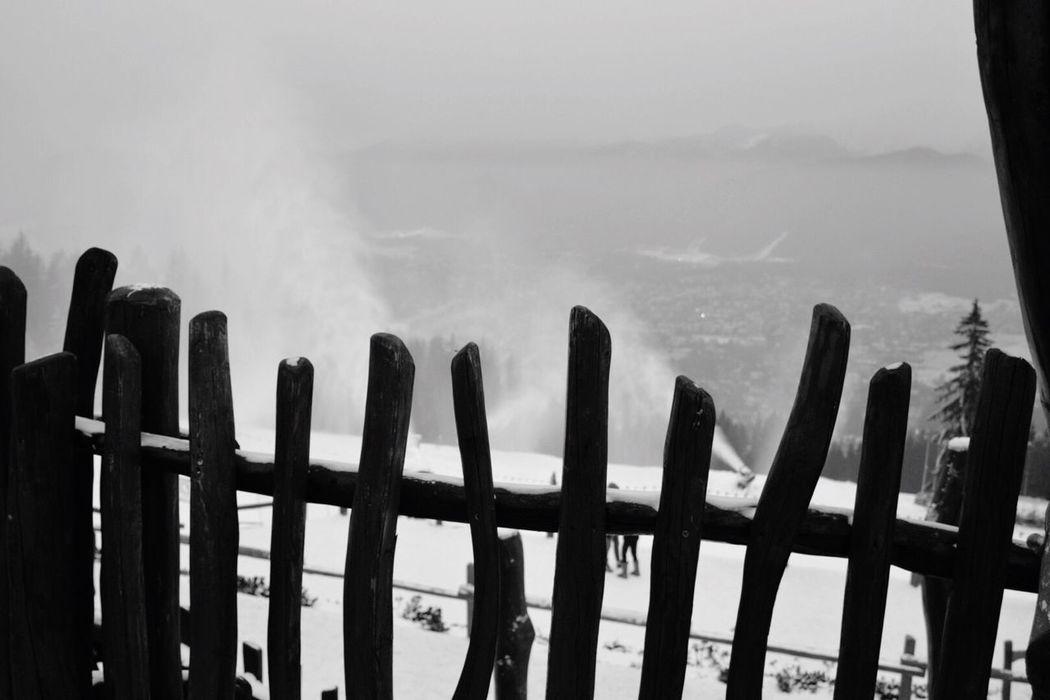 Winter time Winter Snow Fence Poland Polska Panorama Blackandwhite Gubałówka Zakopane