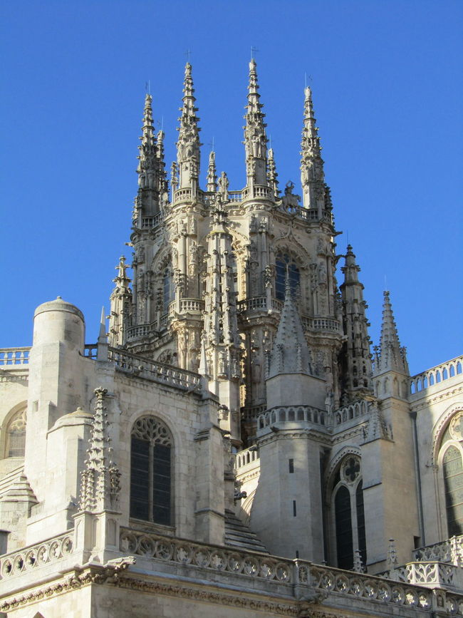 City Stadt Pilgrimage Sommer Summer Travel Destinations Building Exterior Clear Sky Religion Cathedral Kathedrale Jakobsweg Way Of Saint James Burgos SPAIN Spanien Santa Maria Kirche Church