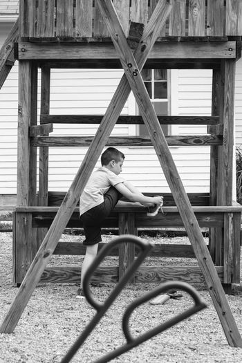 Visual Journal June 2017 Alexandria, Nebraska A Frame A Frame Within A Frame A Day In The Life Camera Work Everyday Lives EyeEm Best Shots FUJIFILM X-T1 Getty Images Kids Being Kids Rural America Takumar 135mm F3.5 Tying Shoelaces Visual Journal Boys Casual Clothing Childhood Childhood Memories Full Length Lifestyles One Person Outdoors Photo Diary Playground Real People Small Town Stories