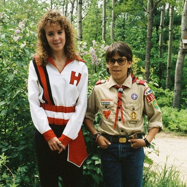 Happy Siblingsday to my beautiful Sister Stacia, who is the best sister a bro could ever ask for! Here we are back in about '89... Awkwardeighties Eighties hugetintedlenses marchingband BSA