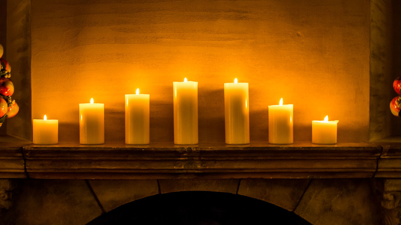 candle, flame, burning, heat - temperature, indoors, no people, illuminated, close-up, day