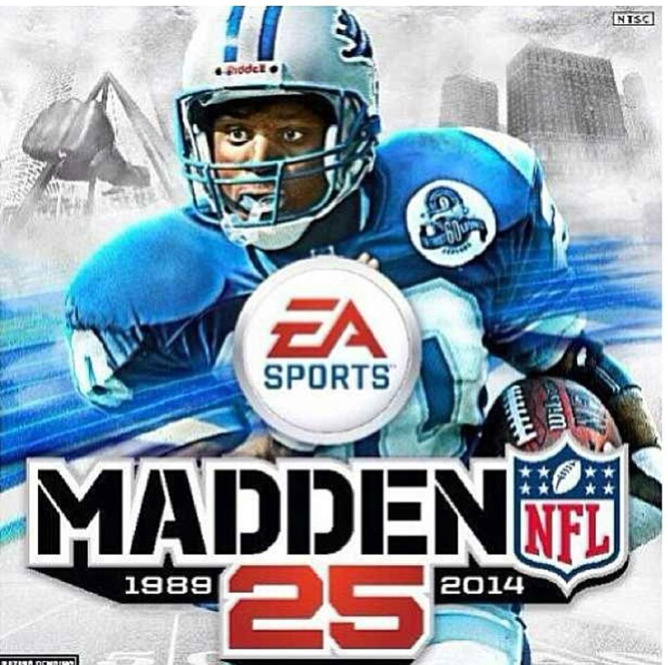 BARRY SANDERS ON THE COVER OF MADDEN 25 !!!!!! CANT WAIT TO PLAY ♥♥♥
