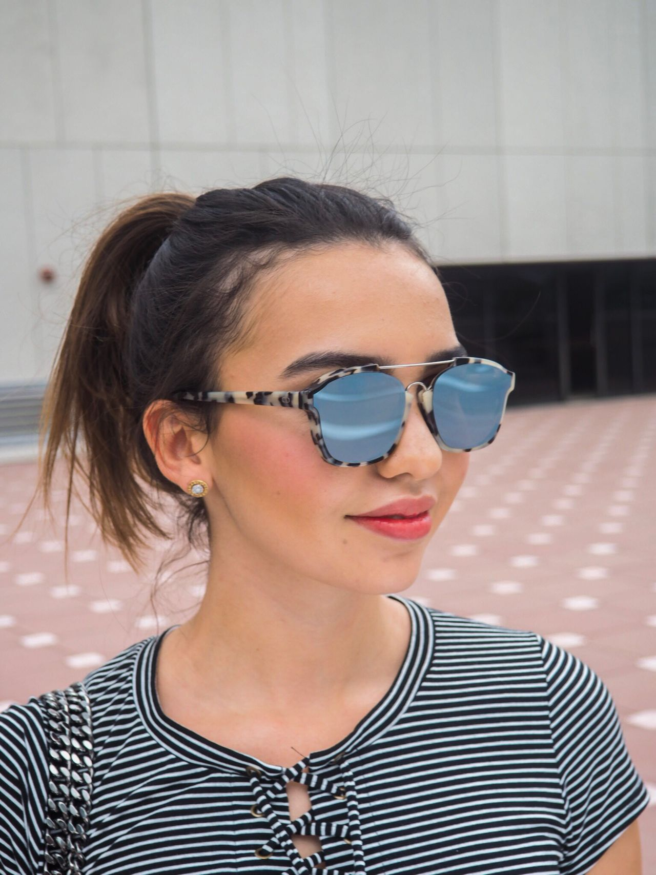 Roof portrait Headshot Portrait Sunglasses Close-up Beautiful Woman Day Outdoors Rooftop Kitlens