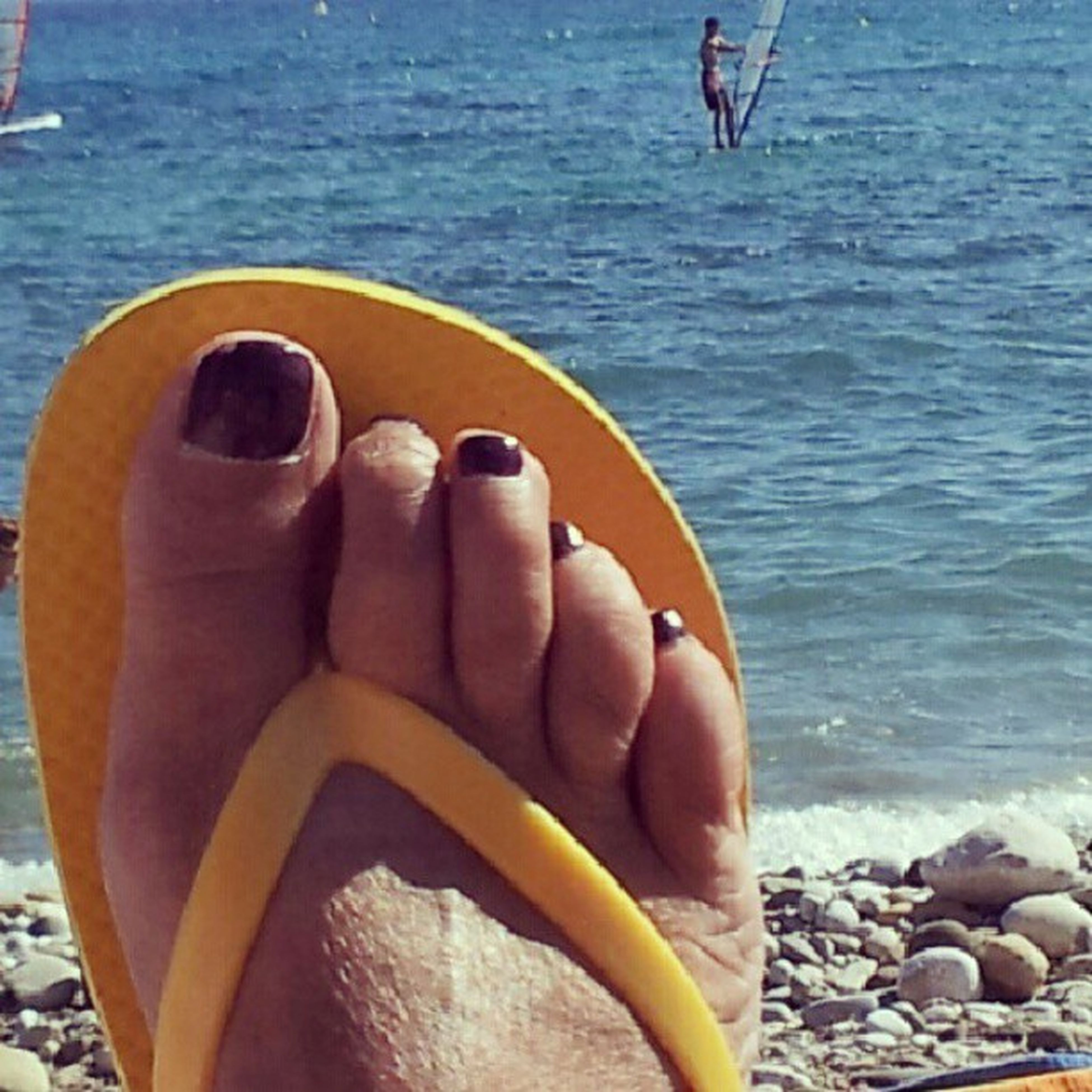 water, person, low section, beach, sea, lifestyles, leisure activity, vacations, human foot, personal perspective, shore, relaxation, part of, barefoot, men