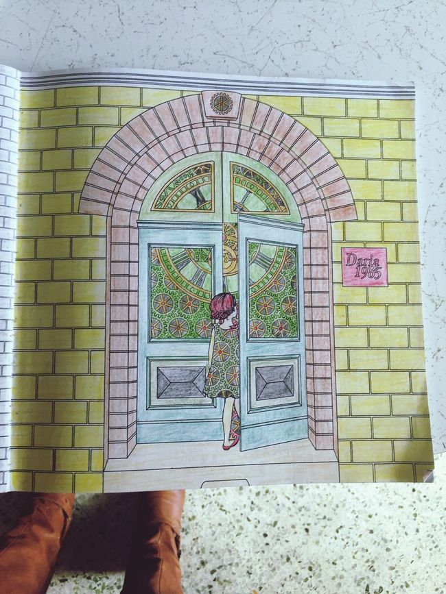 Alzheimer's has not robbed my mother of her creativity. AlzheimersAwareness Coloring Book