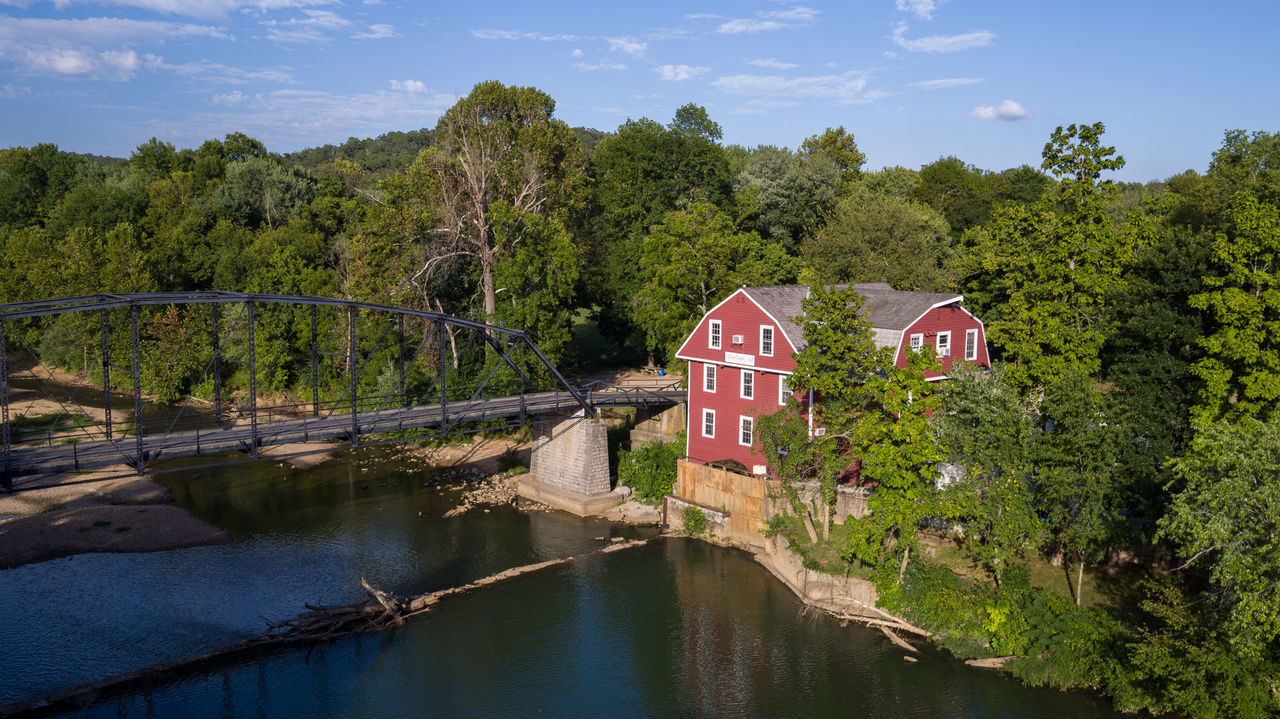 Bridge Creek Dam Grist Mill Historic Historical Building Historical Sights Mill River Tourism Tourist Attraction  Truss Bridge War Eagle Water Water Reflections