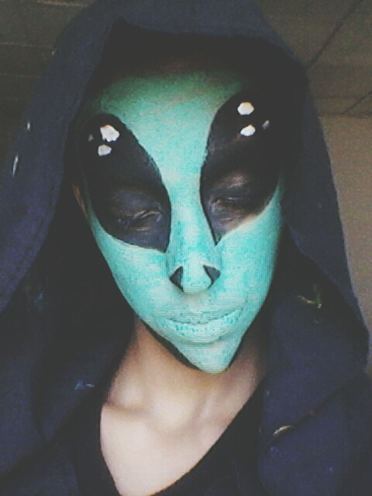 Alien Mutant. Makeup Fantasy Alien Haloween 2015 Taking Photos