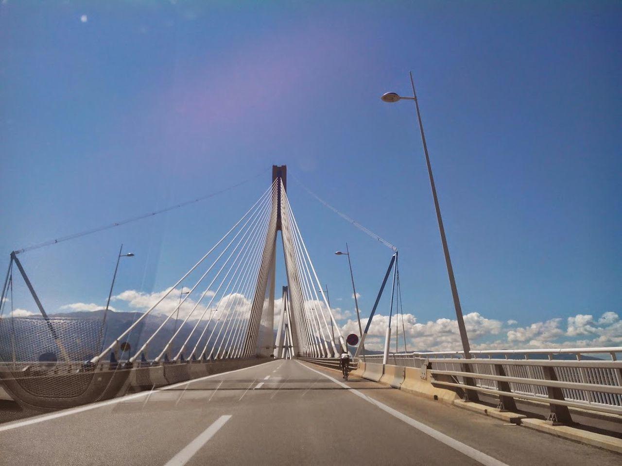 Patras Bridge Greece Architecture Bridge - Man Made Structure Connection Day No People Outdoors Sea Sky Suspension Bridge Travel Travel Destinations