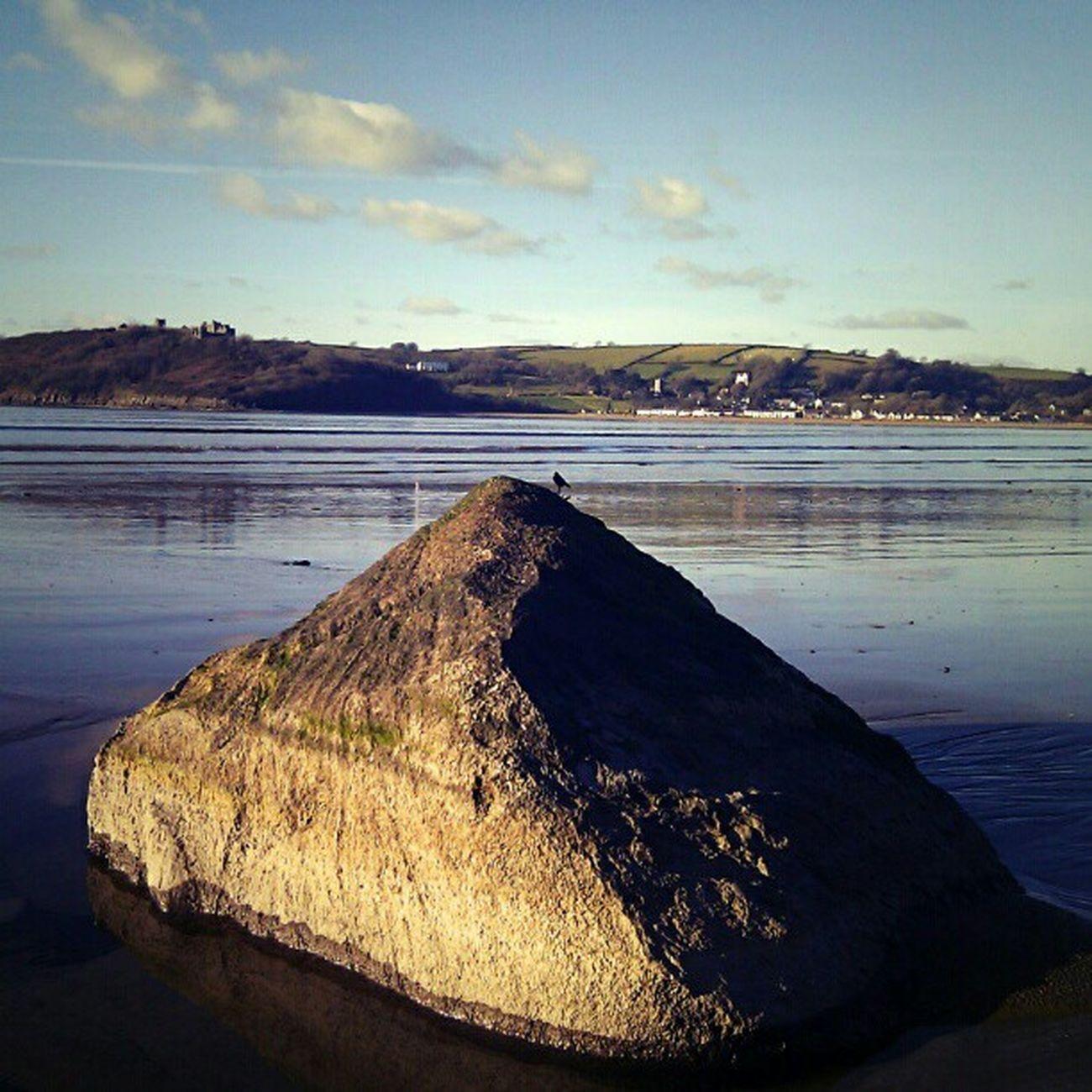 Wales Llansteffan Ferryside Beach Rock Phonography  Pickoftheday