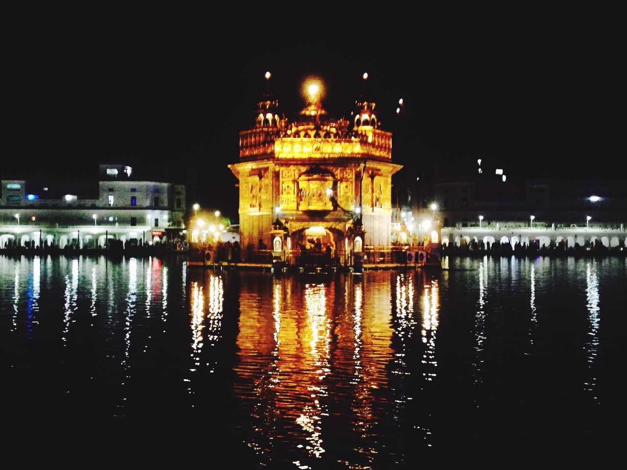 Enjoy The New Normal Night Reflection Architecture Travel Destinations Water Golden Temple Divine