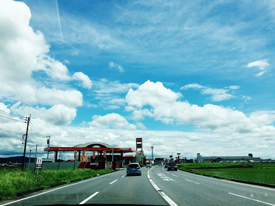 Hello World Driving Skyporn Sunnyday☀️ Skyblue Cloud_collection  Sky And Clouds Sky_collection Ultimate Japan 鳥栖市
