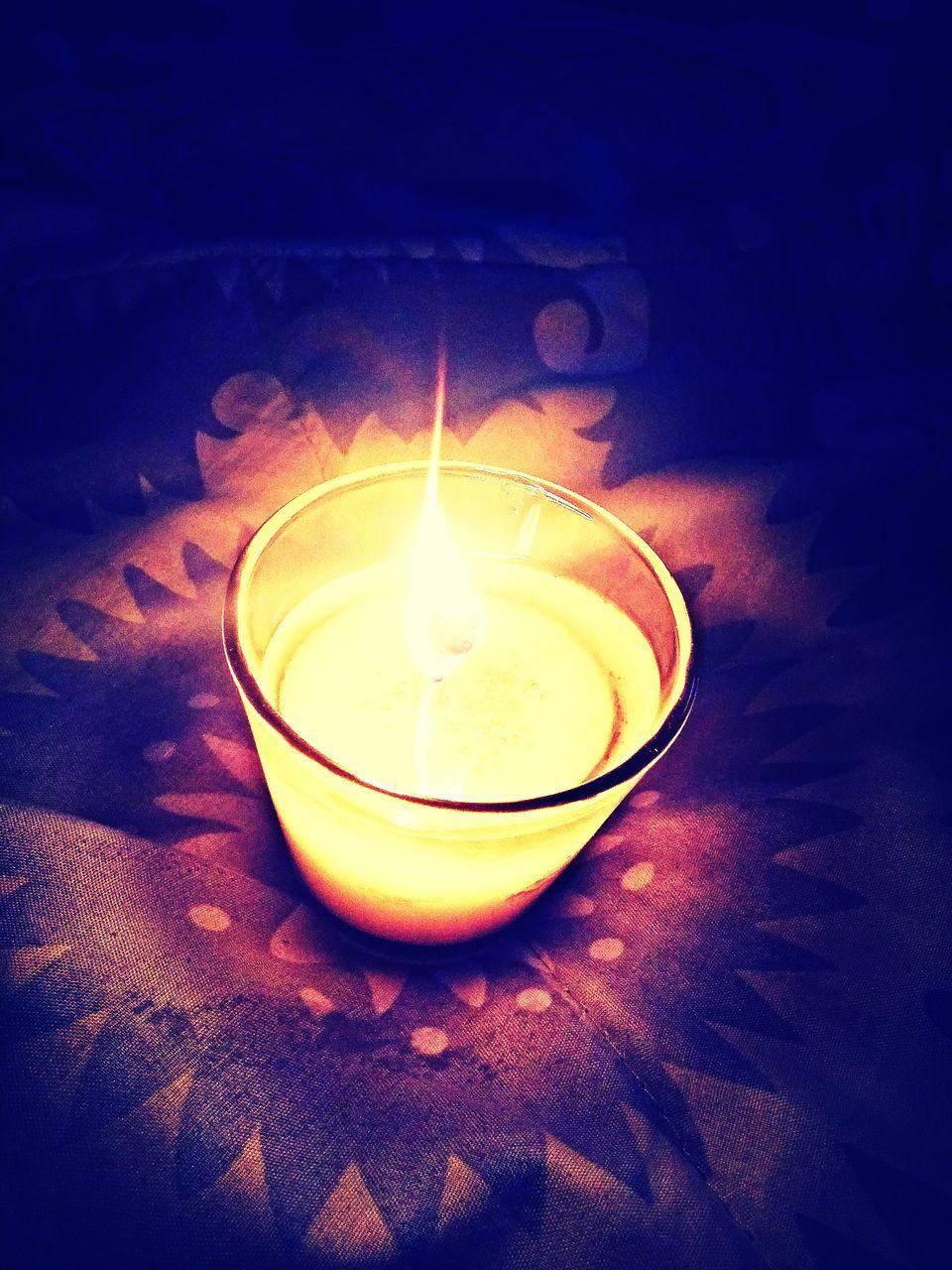 flame, candle, burning, illuminated, glowing, heat - temperature, indoors, lighting equipment, no people, tea light, night, close-up