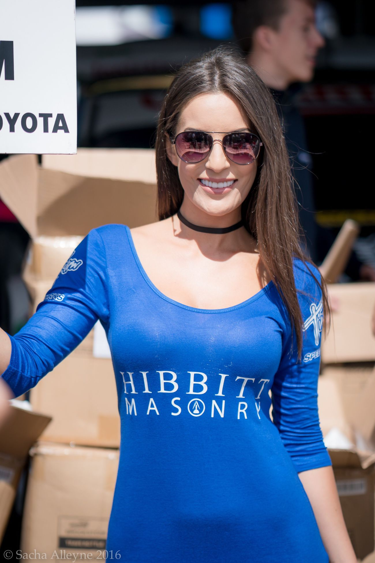 Looking At Camera Young Women Portrait Waist Up Young Adult Lifestyles Standing Smiling One Person Front View Women Beautiful Woman Gridgirls Beautiful Grid Girl Model Pitlane British Touring Car Championship Britishtouringcars Brunette Sunglasses Day People