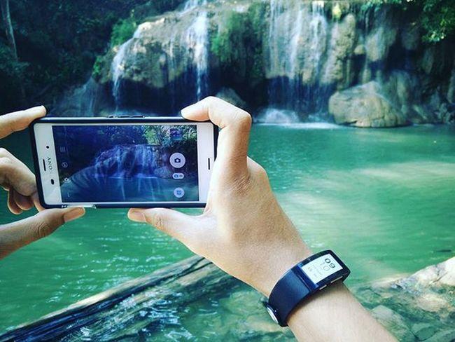 -water green Dota Kanchanaburi Thailand Erawanwaterfall XperiaZ3 Oppofine7