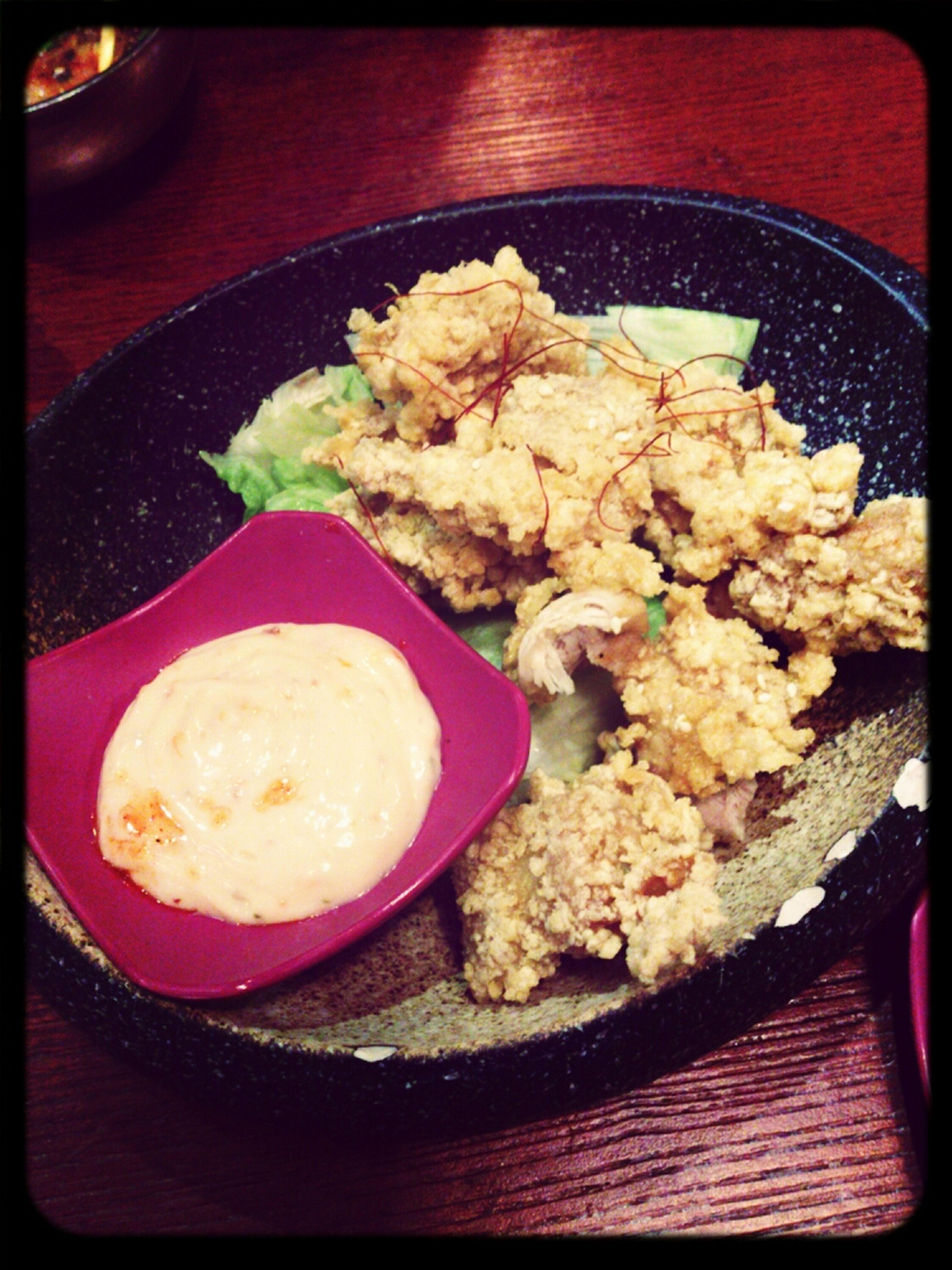 Deep Fried Chicken Mayonnaise Korean Style Spicy Crunchy