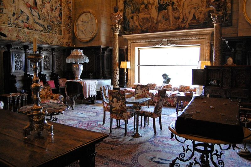 Hearst Castle 43 Golden Moments Absence Arquitecture Arrangement Castle Chair Day Electric Lamp Empty Furniture Gold Accents Illuminated Interior Architecture Interior Decorating Interior Design No People Real Gold ;)  Travel Destinations Travel Photography Vacations