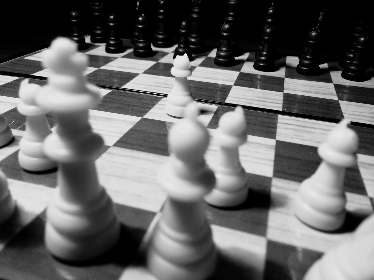 Chess Chess Board Strategy Chess Piece Leisure Games Close-up Competition Large Group Of Objects No People Indoors  Pawn - Chess Piece King - Chess Piece Starting A Trip First Move Chessboard Strategic Strategy Game Games Competitive Sport Knight - Chess Piece