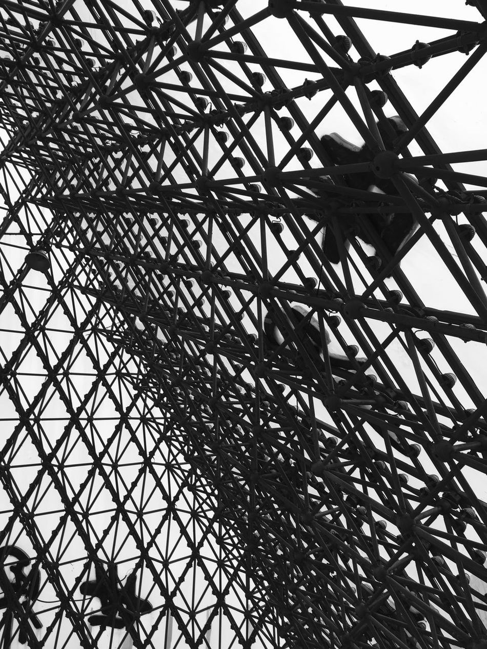 Modern Architecture at Window of the World Pyramid in Shenzhen - China Chinese Architecture Lattice Pattern Modern Architecture Building Interior Architecture Pyramid Shenzhen Architectural Architectural Detail Monochrome Abstract Inside Pyramids Chinese Pattern Window Of The World  Black And White China