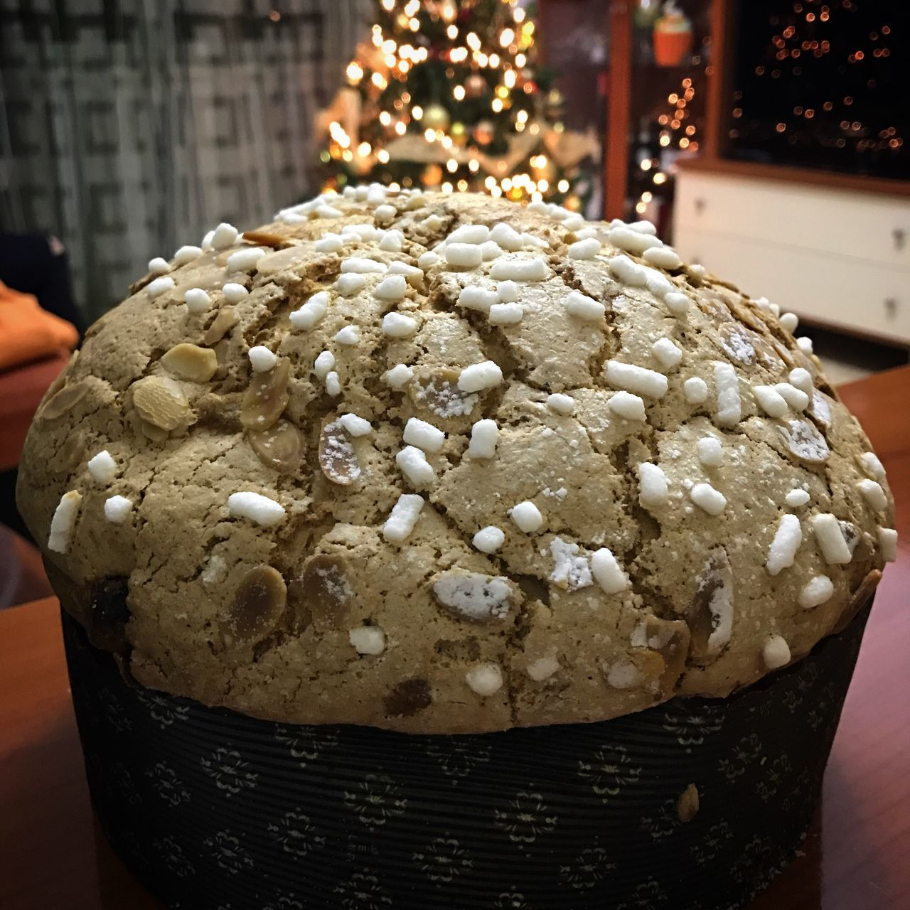 Panettone artigianale Sweet Food Food Food And Drink Christmas Close-up Illuminated Ready-to-eat Christmas Decoration Napoli Quarto Freshness No People Indoors  Day