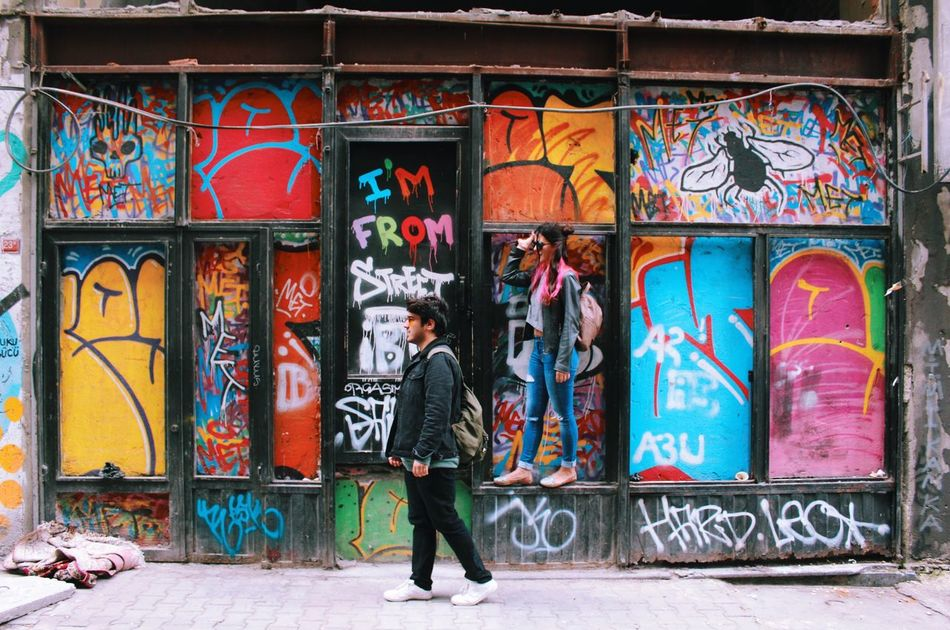 Friends of mine Graffiti Street Art Multi Colored Creativity Art And Craft Architecture Built Structure Building Exterior Outdoors Art Is Everywhere