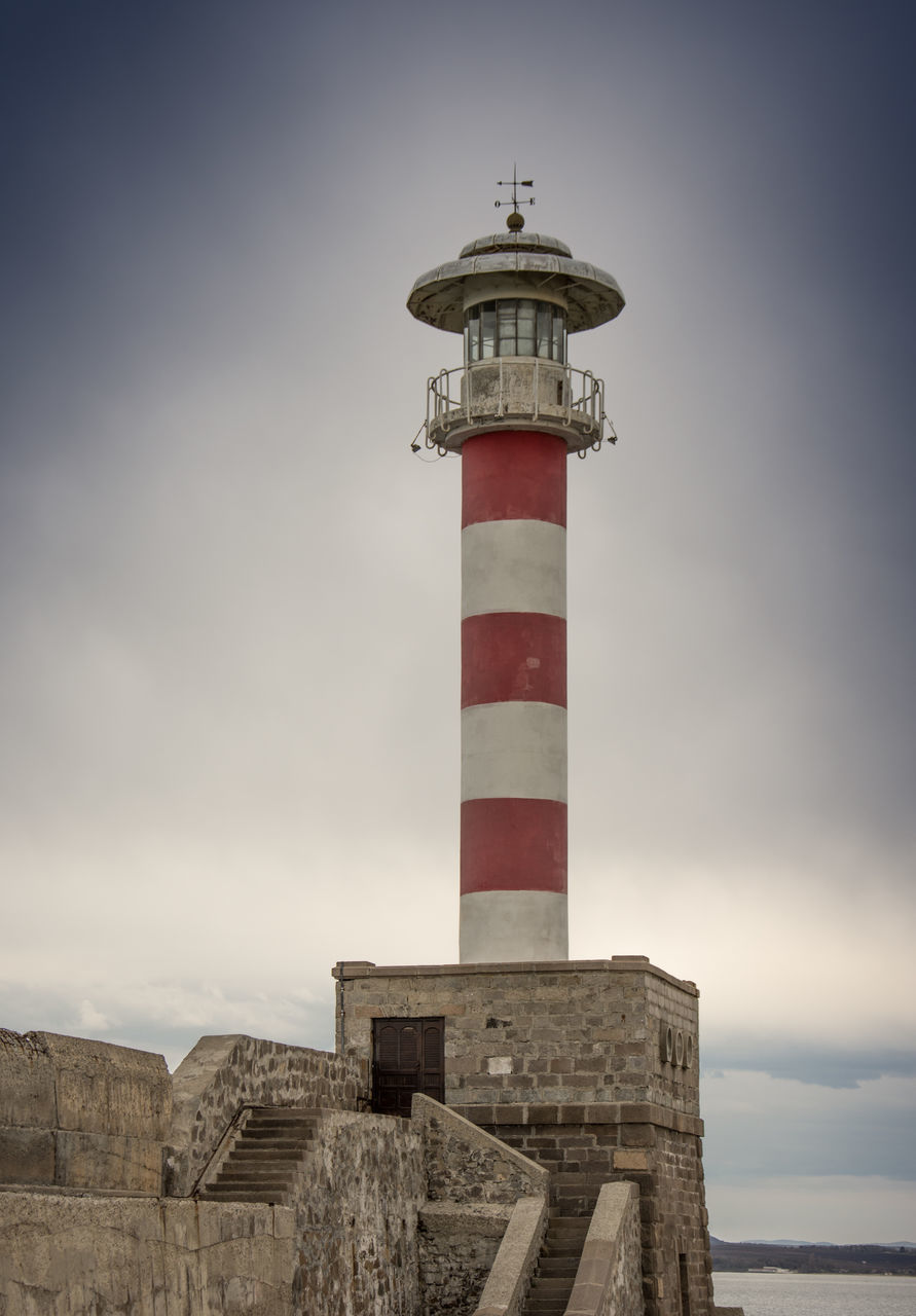 lighthouse, sky, guidance, day, no people, sea, protection, outdoors, architecture, built structure, scenics, nature, water