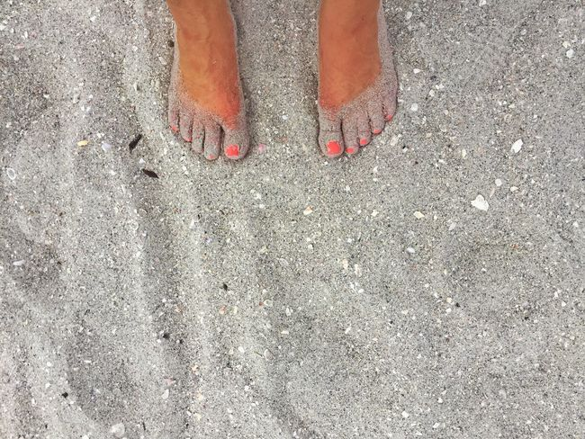 Beach Photography Sandy Feet Sand Florida Nailpolish