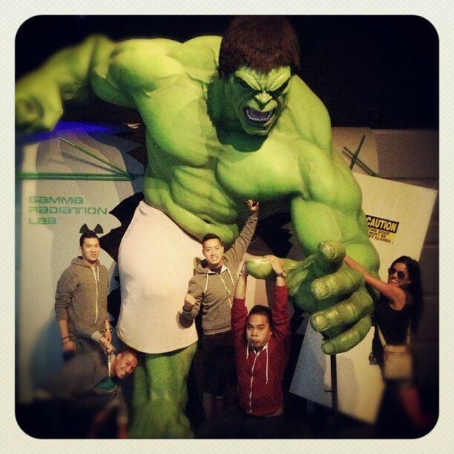 Hanging out with Theincrediblehulk . Hulk Avengers Marvel MadameTussaud WaxMuseum