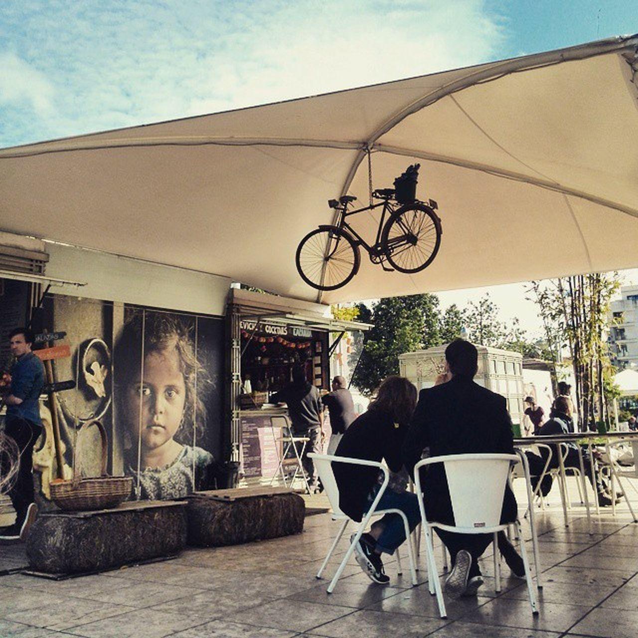 Hanging bikes Berlin style. Lisboa Sun Martimmoniz lisboalive