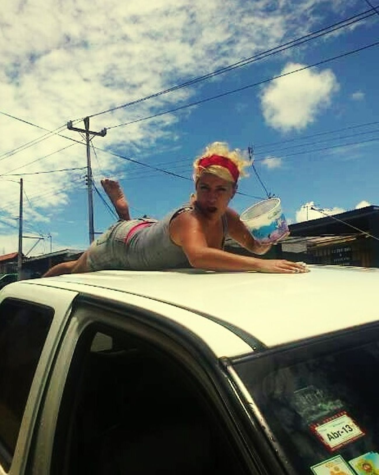 CarWashTime PinUpGirl Enjoying Life Makingfun Camaleon