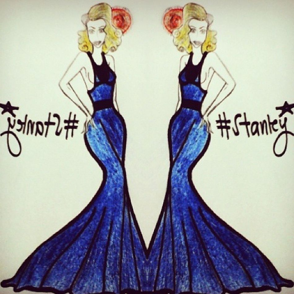 Fashion Fashionrunaways Fashionart Nycinspired hollywoodinspired blue casualdress artistic art illustrator illustrate illustration followandlike love hashtagforlove stanleydesigns drawing sketch colours hues indigodress ?✏?