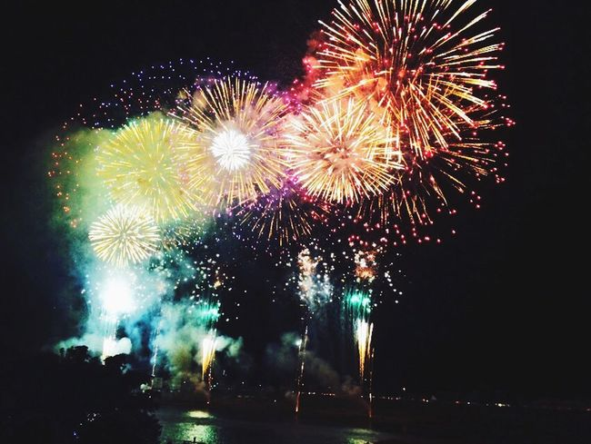 The yesterday's fireworks.♡♡In the Gifu-shi Nagara River.◡̈