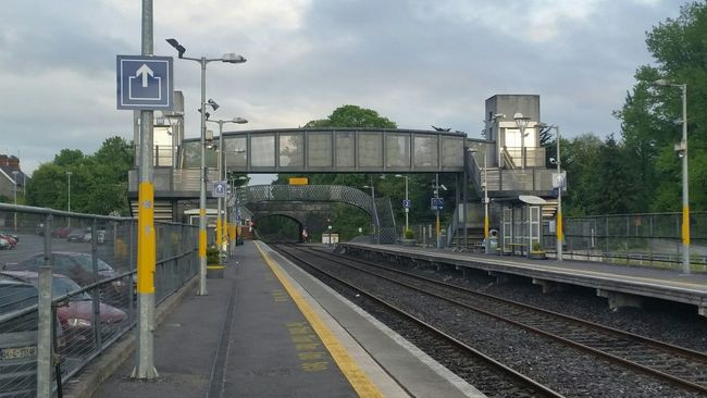 Railwaystation Railway at Tullamore Offaly Ireland after Vote for Marraigeequality as I head back to Galway