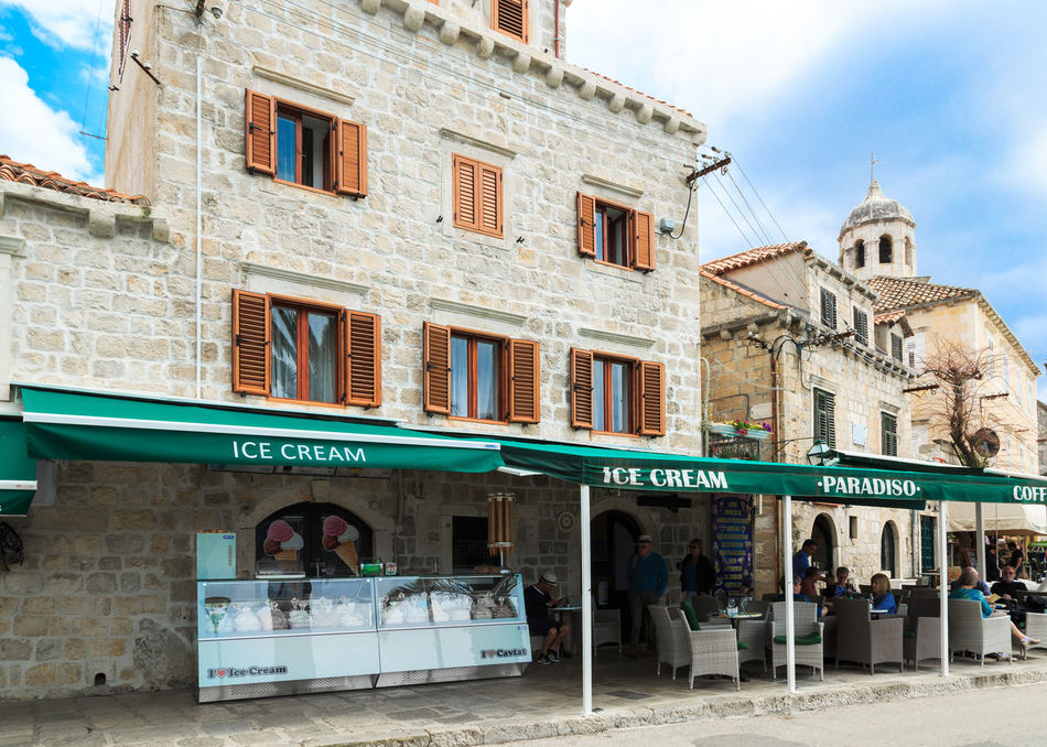 Souvenir shop and cafe in Cavtat, Croatia Cafe Cavtat  Croatia Dalmatian Destination Food Holiday Hot Ice Cream Nature Restaurant Souvenir Souvenir Ship Summer Summertime Tourism Tourist Travel Travel Destinations Vacation Warm Yacht Destination