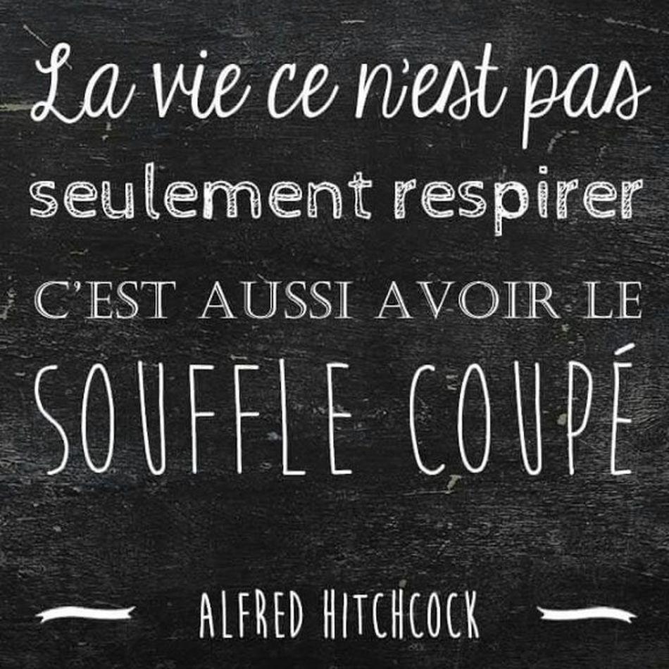 Carpe diem. Enjoying Life Citationdujour Hitchcock Vie Life Emotions Liberté Amour Vivre