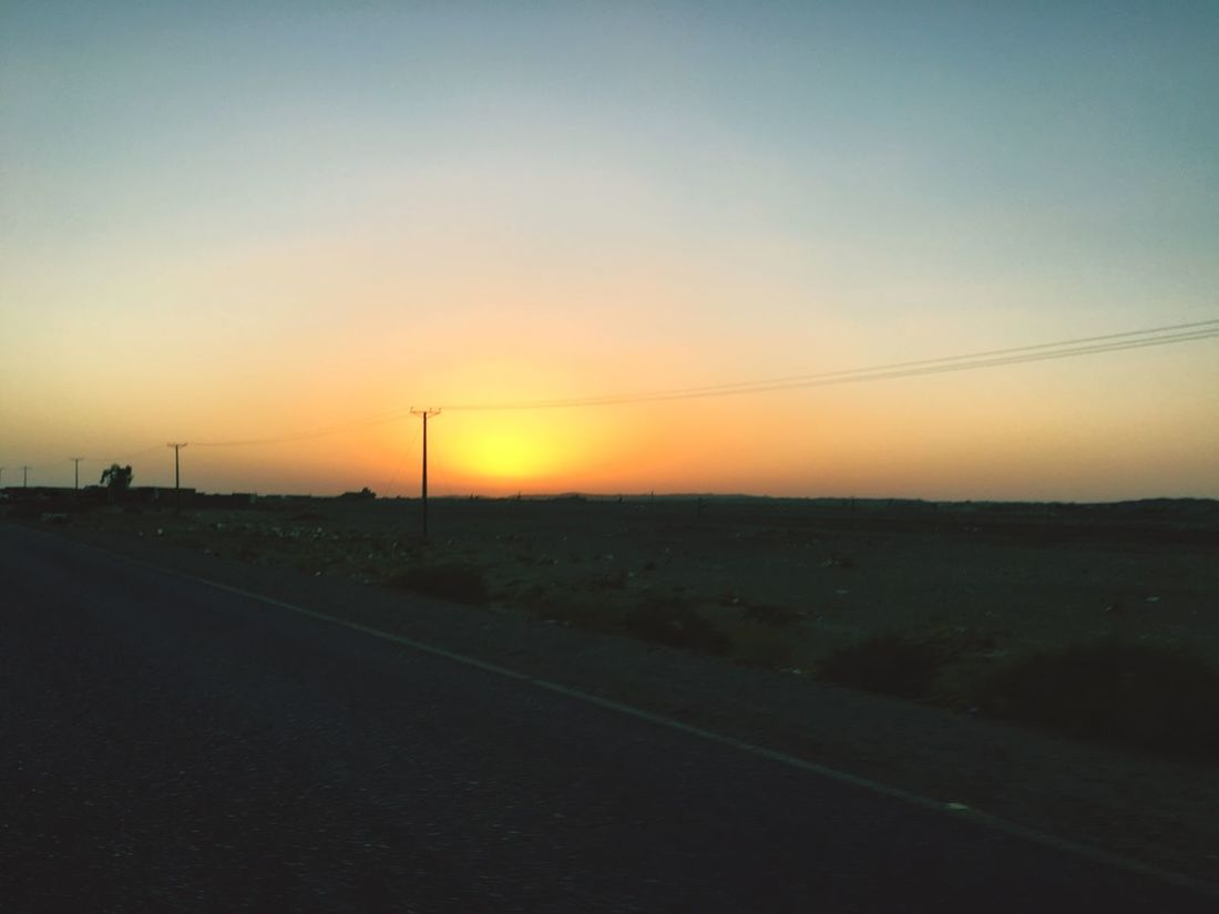 Sunset 🌅 Road Landscape Scenics The Way Forward Orange Color Nature Clear Sky Sun Beauty In Nature Outdoors IPhoneography The Week On Eyem EyeEm Gallery