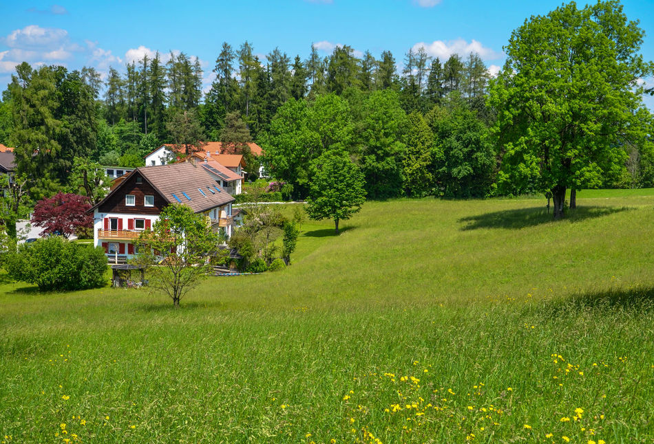 Alpine Architecture Bad Tölz Bavaria Chalet Day Germany Grass Nature Outdoors Sky Sunlight Tree