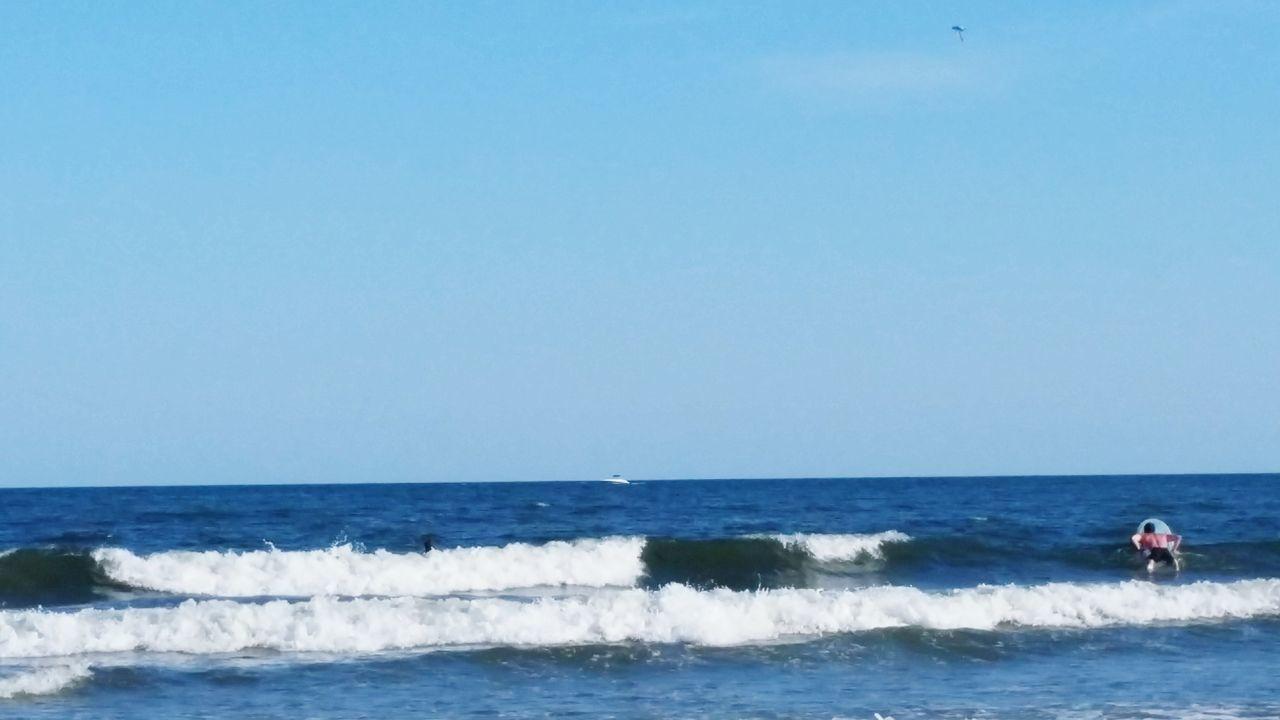 Atlantic Ocean Ocean City Nj  Beach Photography Beautiful Day Watching Surfers