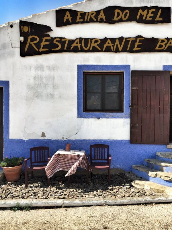 Restaurant Table For Two A Little Windy Outside Still Life Costa Vicentina Algarve Portugaligers Portugal_lovers Portugalcomefeitos