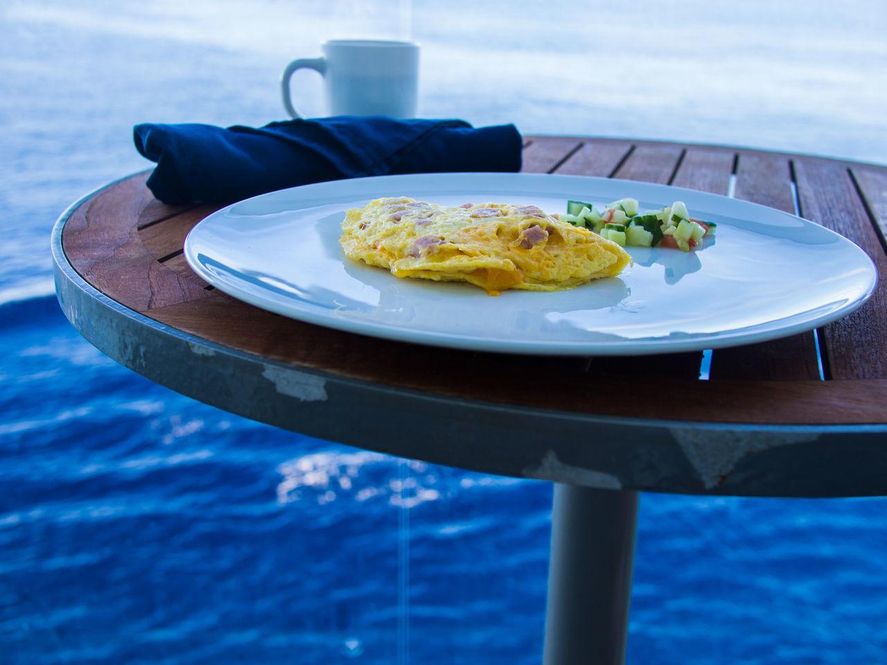 Cooked breakfast overlooking the ocean Breakfast Breakfast With A View Cooked Breakfast  Eggs Enjoying Life