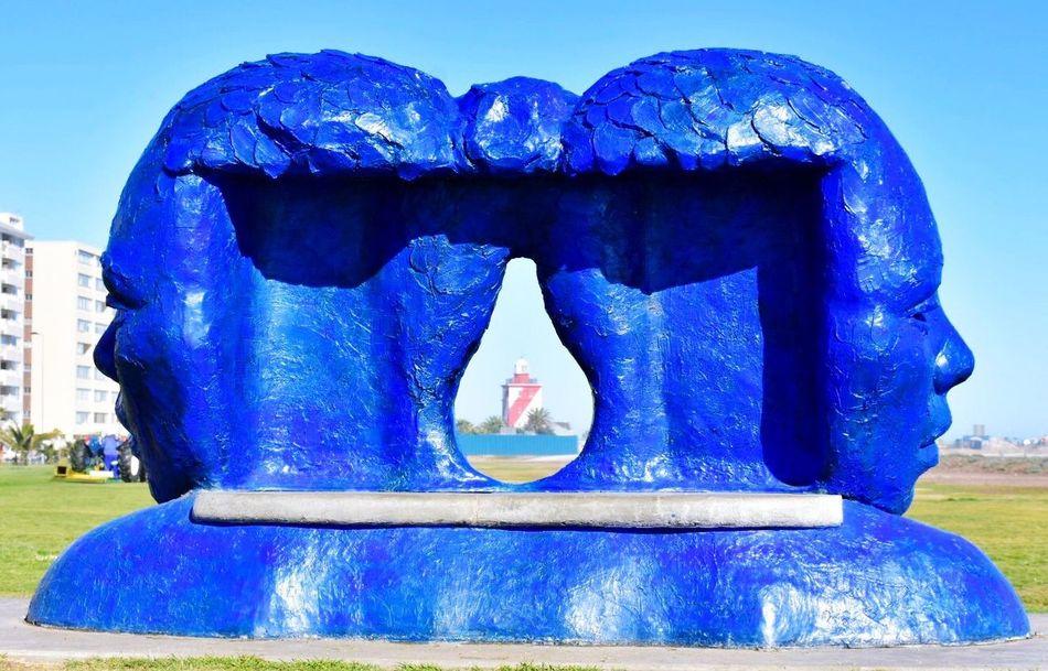 Color Palette Travelling EyeEm Lighthouses Public Art Lionel Smit Morphous Blue Sculpture Headshot Two Is Better Than One