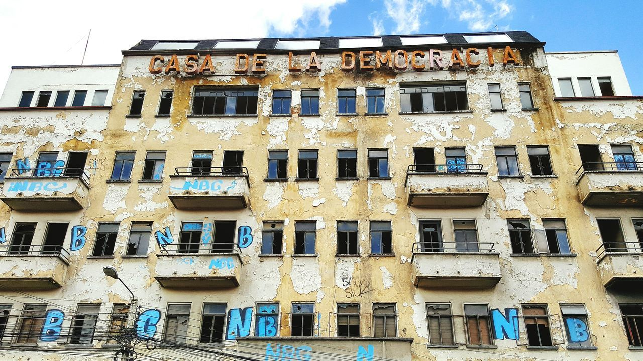 Casa Democracia Democracy Building Exterior Architecture Cloud - Sky Day City No People Residential Building Outdoors Built Structure Window Abondoned Places Abondoned Abondened Places