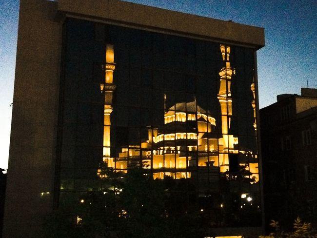 Kocatepe bina yansimasi... Ankara- Kızılay Kocatepecamii Ankara Turkey