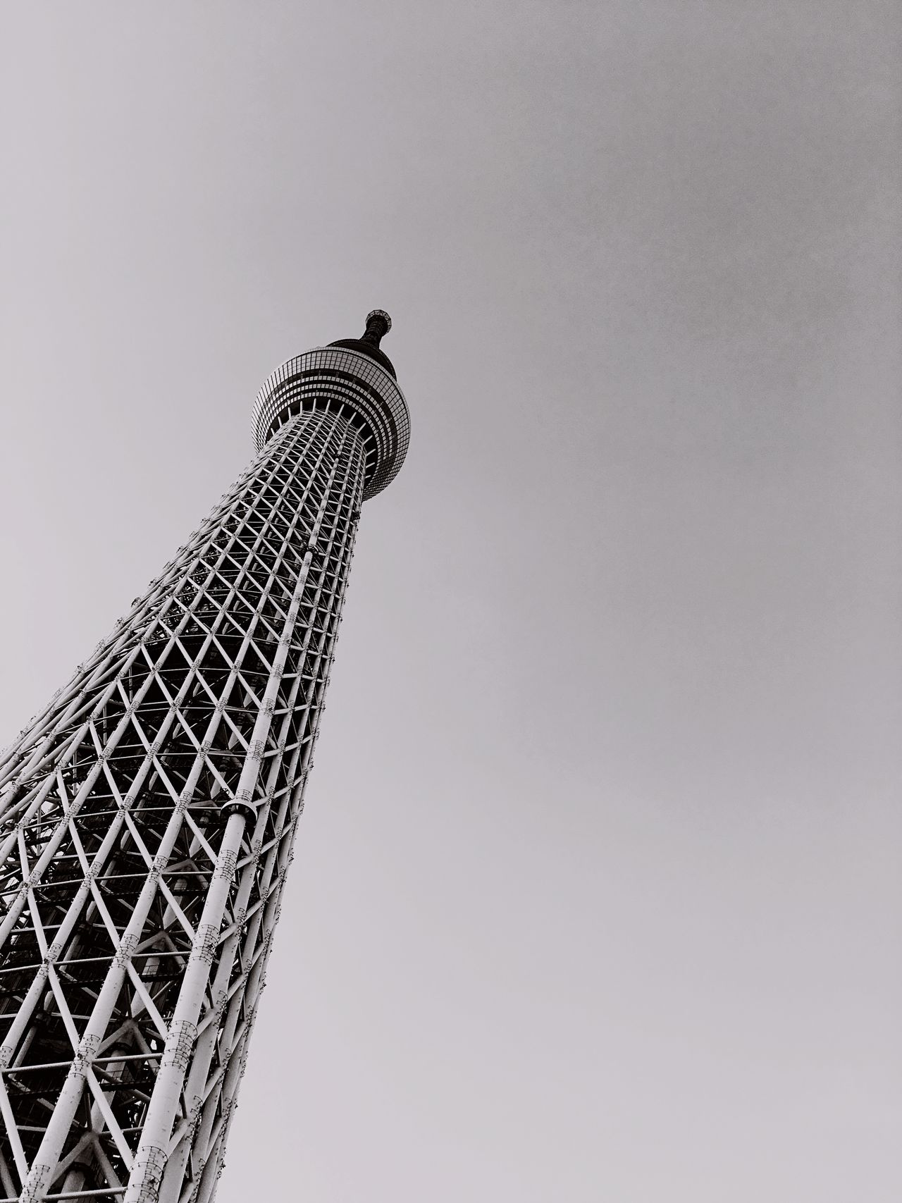Low Angle View Clear Sky Tower Modern Blackandwhite Black And White Black & White Black&white